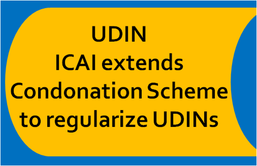 Extension of Condonation Scheme to regularize UDINs